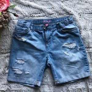 Girls Childrens Place Denim Jean Shorts Sz 14